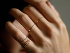 tiny rings. Only on one finger tho
