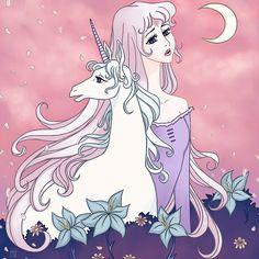 The Last Unicorn Painting by Jennifer Campbell Unicorn Painting, Unicorn Drawing, Unicorn Art, Non Disney Princesses, Unicorn Tattoos, The Last Unicorn, Lace Tattoo, Fan Art, Disney Tattoos