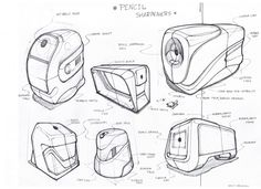 Sketches by Mike Romero at Sketch Design, Ad Design, Thumbnail Sketches, Logos Retro, Sketching Techniques, Industrial Design Sketch, Machine Design, Technical Drawing, Disney Drawings