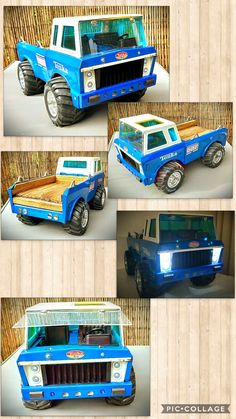 1980 Might TONKA BIGFOOT twin seater custom Pickup Truck all original paint and parts with lights, flip screen and timber deck Custom Pickup Trucks, Tonka Toys, Timber Deck, Toy Trucks, Bigfoot, Old Toys, Vintage Toys, Childhood Memories, Scale