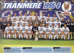 TRANMERE ROVERS FOOTBALL TEAM PHOTO 1995-96 SEASON