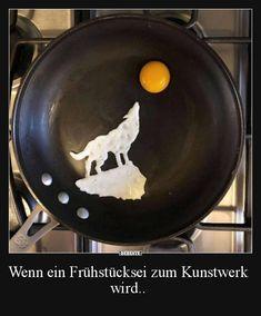 Wenn ein Frühstücksei zum Kunstwerk wird.. | Lustige Bilder, Sprüche, Witze, echt lustig