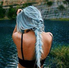 Light blue hair color