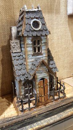 Halloween Village, Halloween Haunted Houses, Gnome House, Witch House, Haunted House Drawing, Fairytale House, Haunted Dollhouse, Spooky House, Halloween Miniatures