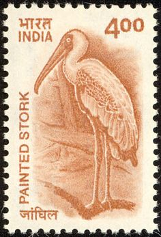 Painted Stork stamps - mainly images - gallery format