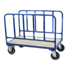 3 Black Plastic Shelves with Double Push Pull Handles The Workplace Depot Catering Trolley Cart