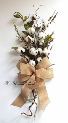 Cotton Anniversary Gift, 2nd Anniversary Bouquet, Natural Cotton Bolls, Wedding Gifts, Cotton Arrangements, Bridal Bouquet, Southern Cotton
