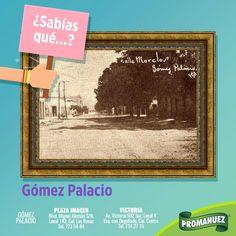 La Ciudad de Gómez Palacio fue fundada el 15 de septiembre de 1885 por Santiago Lavín Cuadra. Visítala, conoce y su historia y lleva a #Promanuez contigo. 😉 http://www.promanuez.com.mx/productos #AliméntateSanamente #RicoySaludable #Natural