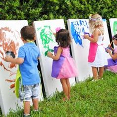 Birthday party painting activity for kids by J and J Home