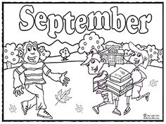 download September coloring page