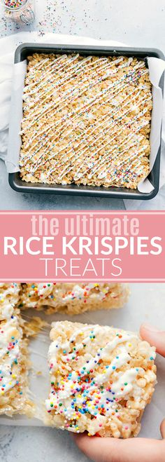 The ultimate BEST EVER Rice Krispies Treats! Read the rave reviews!! via chelseasmessyapron.com
