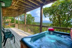 Awesome Views -- You can also enjoy a spa-like experience while taking a soak in the hot tub as you watch the sun dip below the horizon.