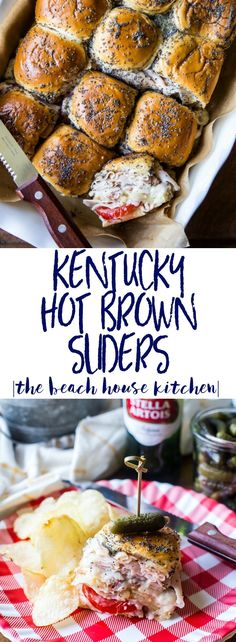 Kentucky Hot Brown Sliders | A drool-worthy sammie, these Kentucky Hot Brown Sliders are perfect for your Kentucky Derby party this year!