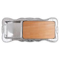 Mariposa Sueno Rectangular Cheese Board with Wood Insert