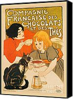 Cat Enjoys Chocolates And Tea Digital Art by Pierpont Bay Archives - Cat Enjoys Chocolates And Tea Fine Art Prints and Posters for Sale