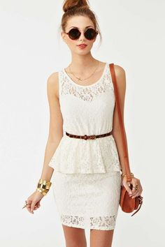 Lace Peplum Dress | Shop Clothes-Dresses at Nasty Gal