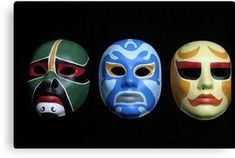 3 Ninjas masks, I don't know why I've always loved these concepts. Halloween Masks, Halloween Fun, Halloween Face Makeup, 3 Ninjas Movie, Ninja Mask, Tag Art, Canvas Art Prints, Perfume, Cosplay