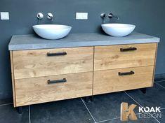 Koak Design makes real oak doors for IKEA kitchen cabinets. Koak + IKEA = your design! Bathroom Cabinets Ikea, Ikea Bathroom Shelves, Ikea Bathroom Vanity, Bathroom Hacks, Bathroom Furniture, Small Bathroom, Ikea Bathroom Accessories, Custom Kitchens, Bathroom Inspiration