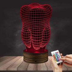 Tooth shaped Gradient Light Artware - Another! Dental Design, Dental Art, Dental Teeth, Dental Hygienist, Dental Jokes, Dental Clinic Logo, Dentist Clinic, Dental Office Decor, Office Lamp
