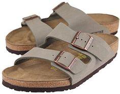 Another Vegan Birkenstock Arizona 2-Strap Women's Sandals in Stone Birko-Flor:  on amazon 94 bucks