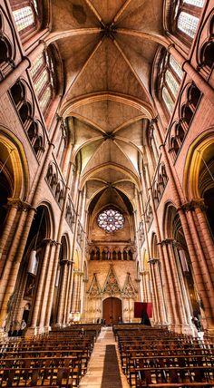 """Cathédrale Saint Jean, Lyon"" by Christopher Waddell"