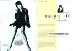 CSD magazine 1999 - Mary Quant #csdArchive from The Chartered Society of Designers