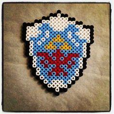 Zelda Hyrules shield  perler beads by gamer_girl_leanne
