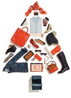 Idea Creativa para que mejores las Fotografias de Producto de tu tienda online. Products in the shape of tree here- but can also create other shapes like a drill, flag, etc. as it relates to an event Web Design, Email Design, Layout Design, Email Layout, Holiday Emails, Holiday Cards, Madewell, Christmas Campaign, Flat Lay Photography
