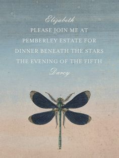 """""""Dragonfly"""" Invitation, by John Derian, Paperless Post. http://paperless.ly/JwzJUE"""