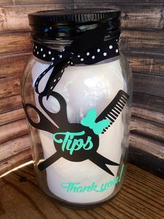 Salon Tip Jar -must have for stylists - Tip jar - Cosmetology - Salon