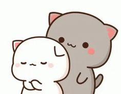 Funny Cartoon Gifs, Cute Cartoon Images, Cute Love Cartoons, Cute Cartoon Wallpapers, Cute Anime Cat, Cute Cat Gif, Cute Cats, Cute Bear Drawings, Cute Cartoon Drawings