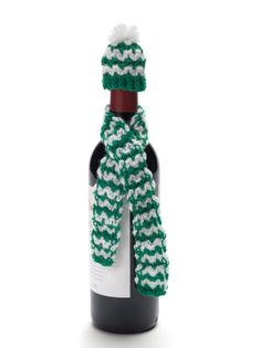Crochet Wine Bottle Hat And Scarf