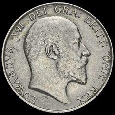 1909 Edward VII Silver Shilling, Scarce, A/EF