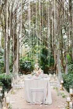 La Tavola Fine Linen Rental: Velvet Oatmeal with Tuscany Ocean Napkins Wedding Scene, Forest Wedding, Wedding Table, Summer Wedding, Dream Wedding, Wedding Day, Wedding Designs, Wedding Styles, Fantasy Forest