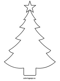 Christmas tree template printable (decorate with glue, glitter, etc)