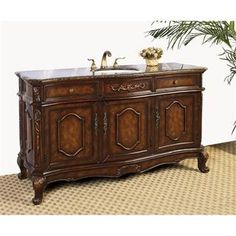 "Check out the Legion Furniture LF12 60"" Single Sink Vanity in Antique Brown - Vanity Top Included priced at $1,108.50 at Homeclick.com."