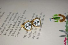 Nice Indianapolis 500 Gold tone Checkerboard Flags Cuff Links by StateofVintage on Etsy
