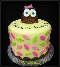 Owl theme birthday cake. @Chris Lessly I like this color scheme