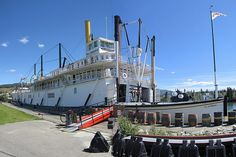 SS Klondike, Whitehorse, Yukon Territory - When we first moved up to the Yukon there were several of these pulled up on the bank of the river. Sadly they succumbed to fires set by vagrants. There is another one in Dawson City. The restored paddle wheeler in Carcross was burned by vandals.
