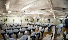 High ceilings add a dramatic industrial edge to this Golden Bull Grand Cafe wedding ceremony. {Golden Bull Grand Cafe}