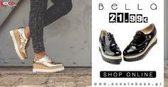 Δίπατα γυναικεία λουστρίν παπούτσια τύπου oxford σε δύο χρώματα!