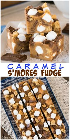 Adding a s'mores twist to this easy caramel fudge is a great way to keep summer flavors alive all year round.
