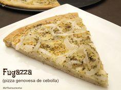 Fugazza - MisThermorecetas Pizzeria Design, Empanadas, Bon Appetit, Vegan Vegetarian, Italian Recipes, Cooking Tips, Tapas, Banana Bread, Food To Make