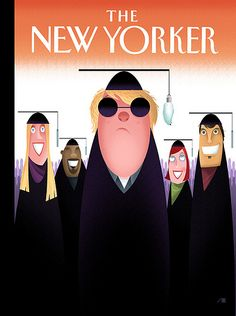 'New Yorker' Cover by Bob Staake - 'Foot In The Door' by artcafe2008, via Flickr