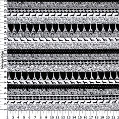 M'Liss Elements of Style III Dachshund Stripe Cotton Fabric