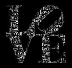 stock photo of word love - Love in word collage - JPG