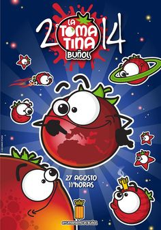 Cartel oficial de La Tomatina de Buñol 2014