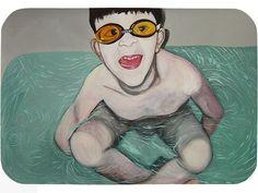 """""""Children I"""". Trabalho selecionado para o salão do MAM da Bahia em 2007. 100 X 70 cm"""