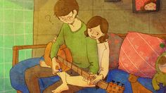 ♥ Guitar lessons ♥ by Puuung at www.grafolio.com ♥