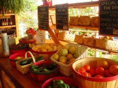 fresh fruit and veggie stand